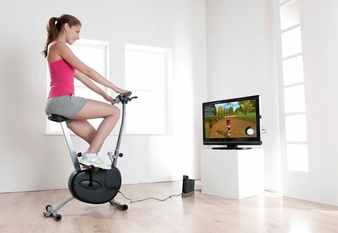 Wii Cyberbike gives you a workout, costs more than the system itself