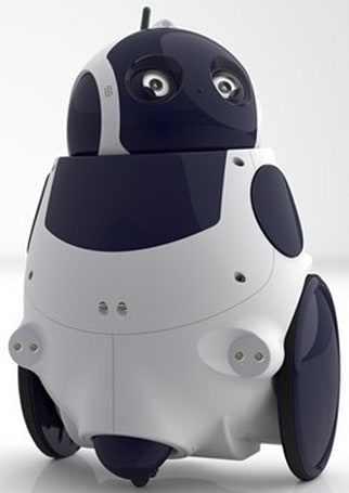Qbo, the open-source robot, interacts with people, makes adorable mistakes (video)