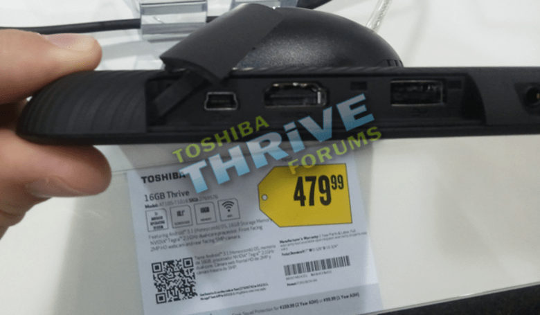Toshiba Thrive tablet on display at Best Buy, possibly on sale too?