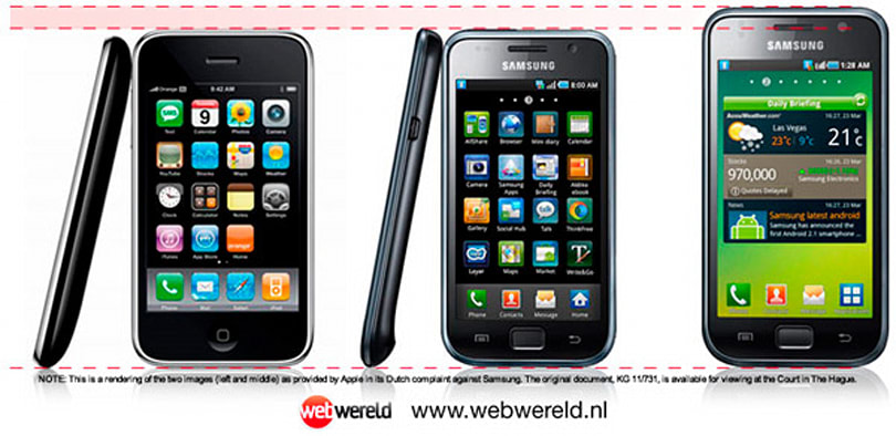 Did Apple shrink the Samsung Galaxy S in Dutch lawsuit filing?
