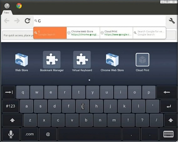 Chromium's experimental touch UI demoed on video, made for meaty fingers