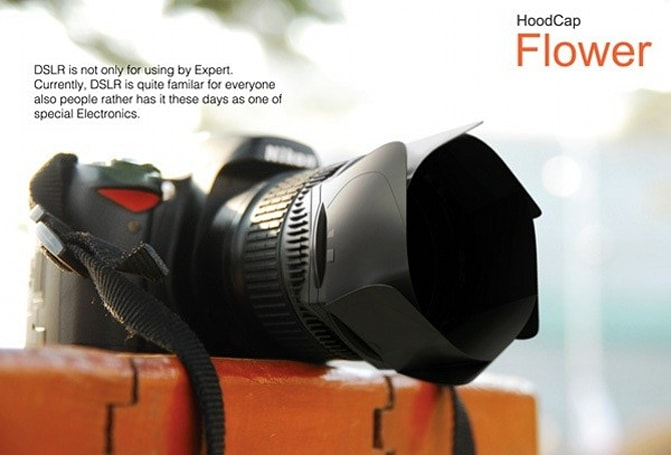 HoodCap Flower concept gives you one less piece of camera gear to lose