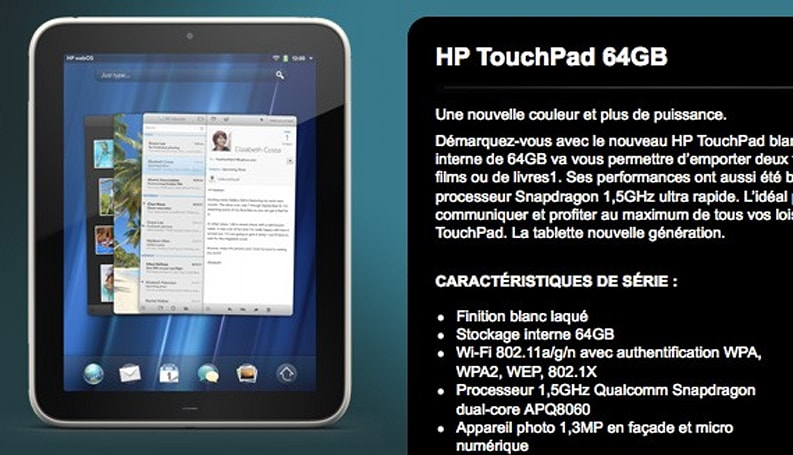 HP unveils 64GB TouchPad, spurns America (and freedom)