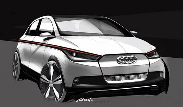 Audi announces A2 electric concept car, uses lasers to ensure safety of future humans