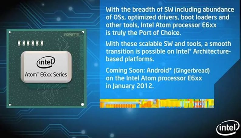 Intel reveals January 2012 Gingerbread arrival for the Atom E6xx (video)