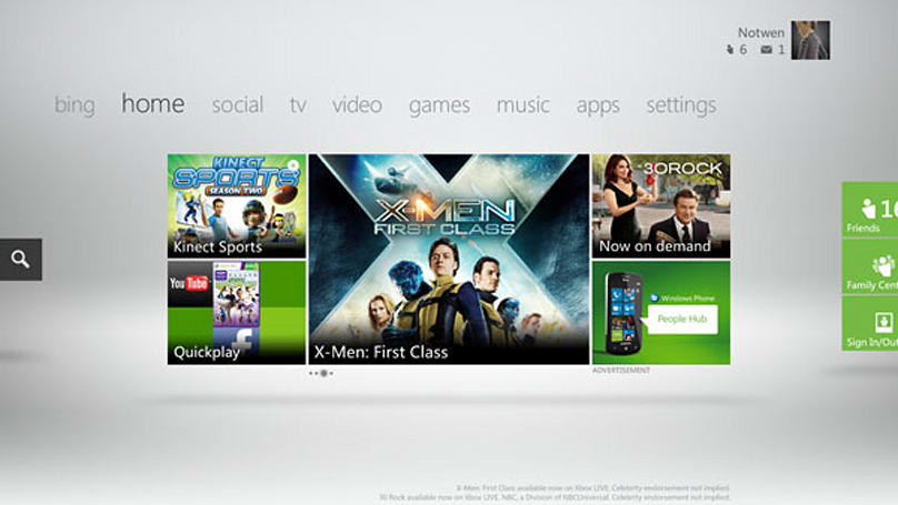 Xbox Live Fall 2011 Dashboard update preview: Bing search, voice control, and a Metro overhaul