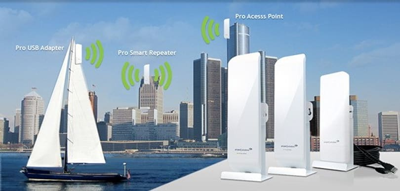 Amped Wireless gives your WiFi 1.5-mile range: never lose signal in the garden again