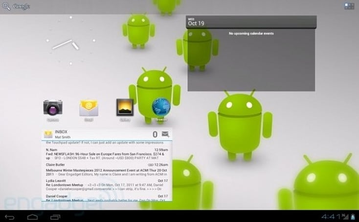 Android Ice Cream Sandwich: What will it look like on a tablet? (video)