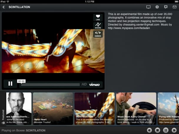 Boxee updates iPad app to version 1.2, adds global Spotify support
