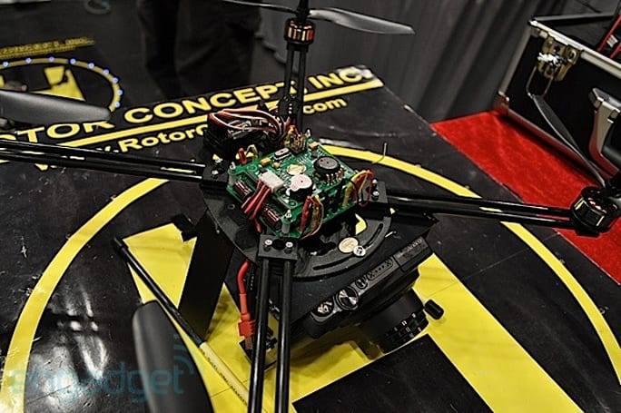 Rotor Concept HPQ-1 quadcopter eyes-on (video)