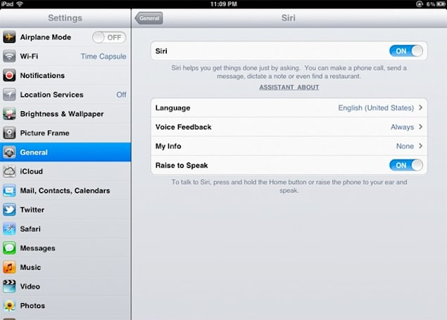Siri ported to iPad, still getting silent treatment from Apple servers