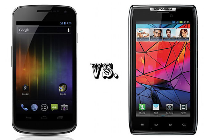 Samsung Galaxy Nexus vs. Droid RAZR by Motorola: the tale of the tape