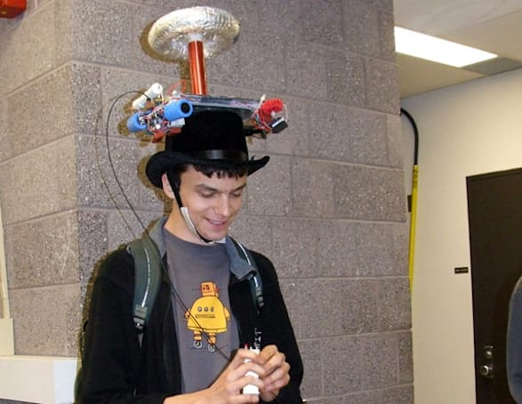 MIT student creates tesla coil musical hat for Halloween, survives