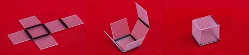 Scientists make magic auto-origami using ink and light (video)