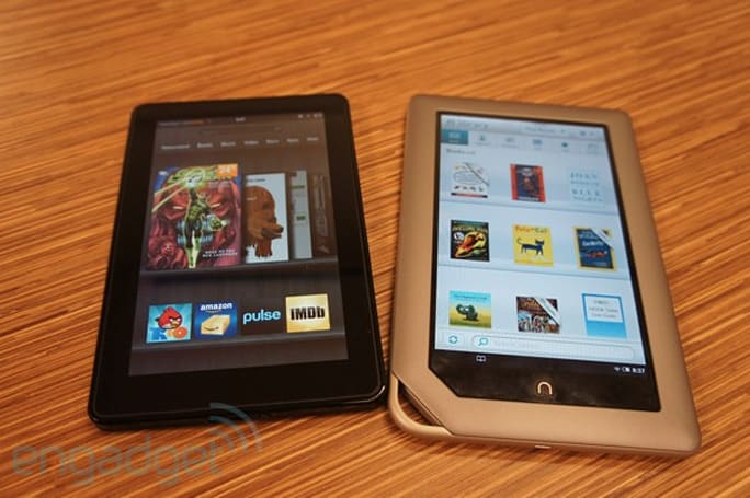 Kindle Fire vs. Nook Tablet...fight!