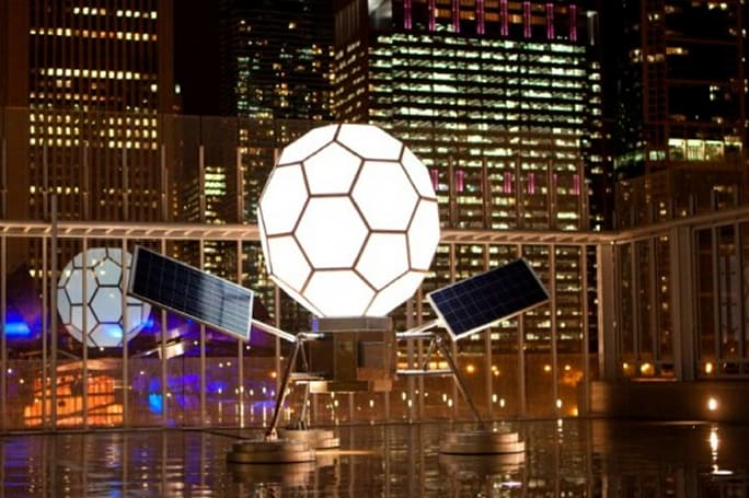 Inhabitat's Week in Green: holiday gift guide, 155 MPH biofuel truck and a solar-powered buckyball
