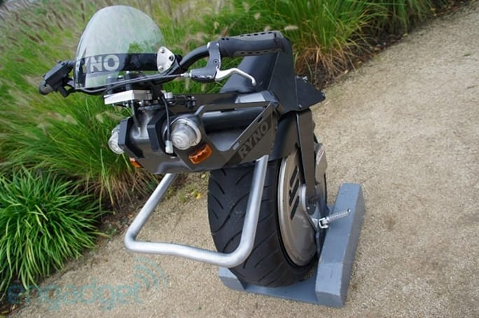 Ryno Motors self-balancing, single-wheeled scooter test ride
