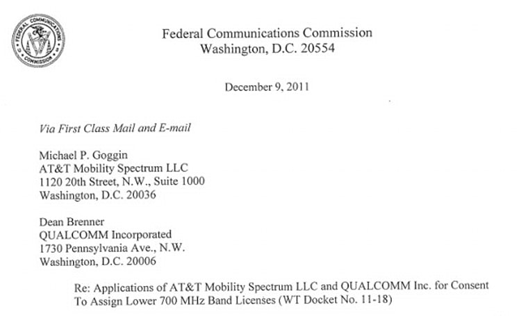 FCC restarts review clock for AT&T's spectrum purchase, gives itself 180 days