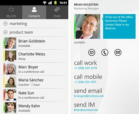 Lync mobile client for windows phone now available for download.