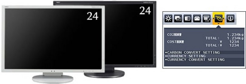 NEC outs pair of displays that tell you their carbon footprint, how economically awesome they are