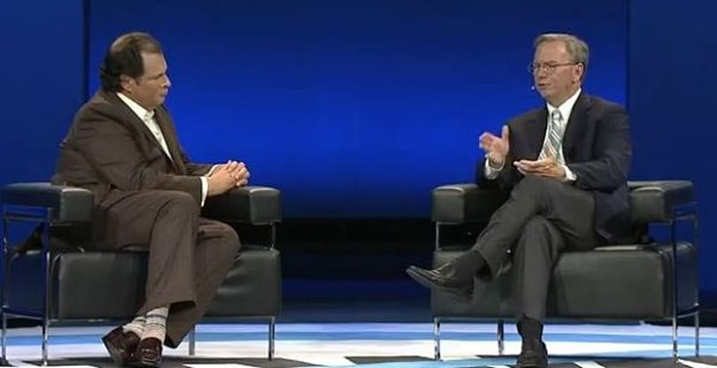 Google's Eric Schmidt slams patent wars, still has nice things to say about Apple and Samsung