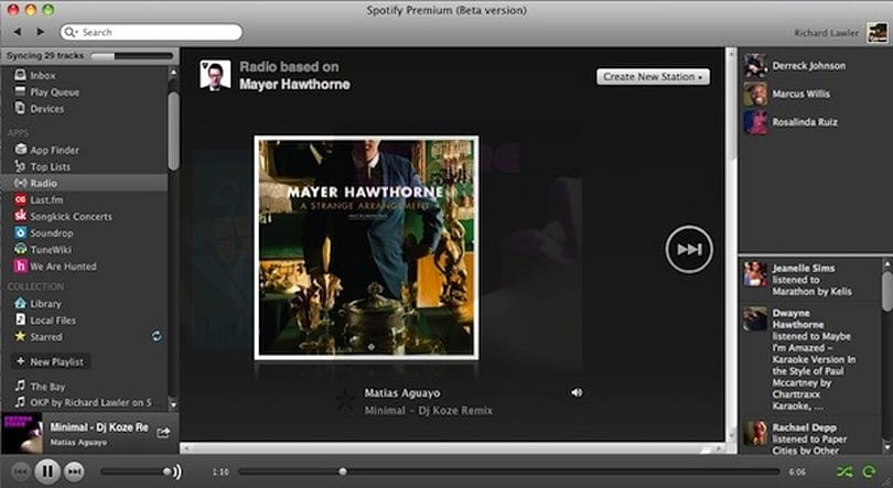 Spotify Radio feature turns into an app, offers Pandora-like stations with unlimited skips