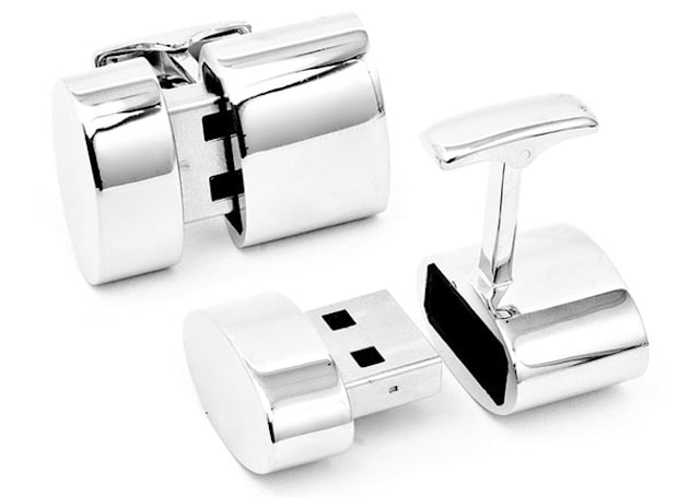 Brookstone's WiFi cufflinks let you discreetly share data, internet connections