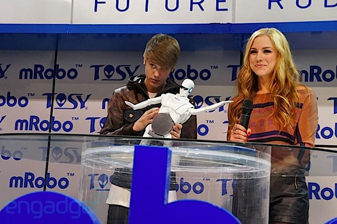 TOSY and Justin Bieber announce mRobo: we go hands-on, dance-off (video)