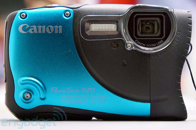Canon PowerShot D20 ruggedized point-and-shoot camera hands-on (video)