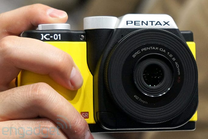 Pentax K-01 mirrorless camera doesn't feel as cheap as it looks, we go hands-on (video)