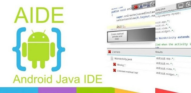 Develop Android apps from within Android using AIDE (video)
