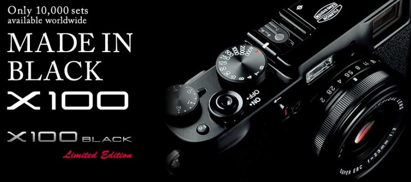 FujiFilm's $1,700 X100 Black Edition now shipping, limited to 10K units worldwide