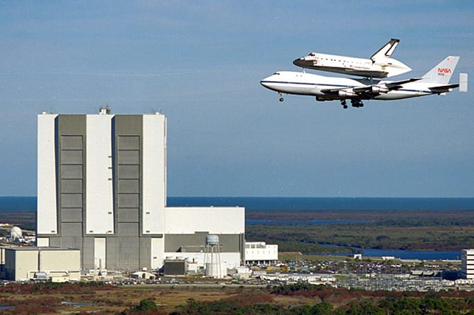 Space Shuttle Discovery to make final in-air appearance in 1,500-foot DC flyover