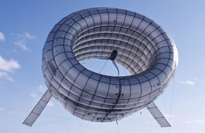 Helium-filled floating wind turbine, renewable energy with style