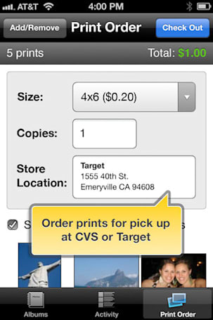 Kodak Gallery iOS app: now with 100 percent more physical printing at Target / CVS