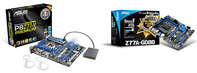 ASUS and MSI launch Thunderbolt motherboards, tie for first place