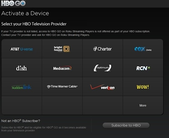 Time Warner Cable confirms HBO Go streaming is now available on Xbox 360, Samsung and Roku