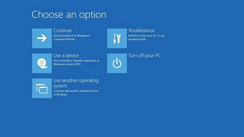 Microsoft details Windows 8's pre-boot world, helps you skip the F8 F8 F8 routine
