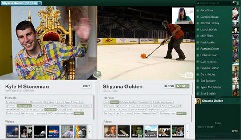 Airtime lets you share media while you video chat, reminds you That Napster Guy is still around