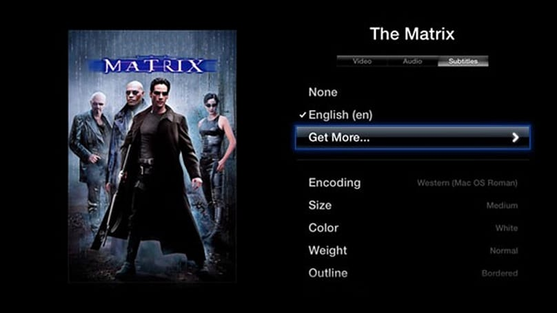 aTV Flash (black) version 1.6 for Apple TV will serve subtitles and more to your couch