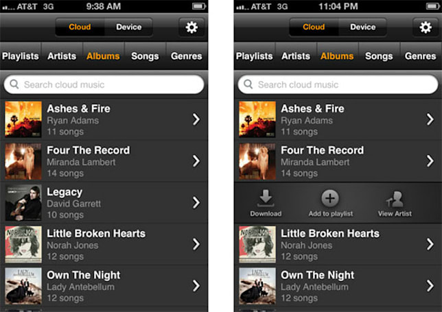 Amazon Cloud Player app arrives on iPhone and iPod Touch