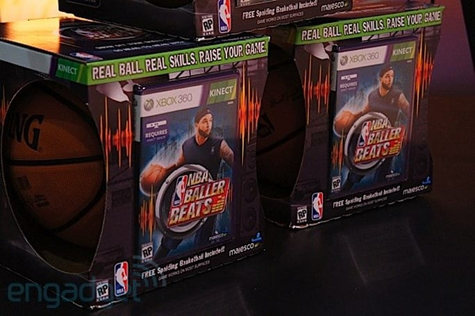 NBA Baller Beats adds a real basketball to your Kinect arsenal, we attempt to go hands-on (video)