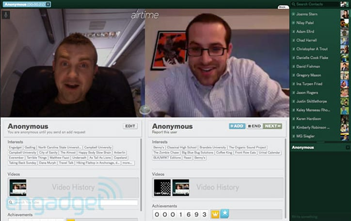 Airtime testing new video post features, improved buddy list