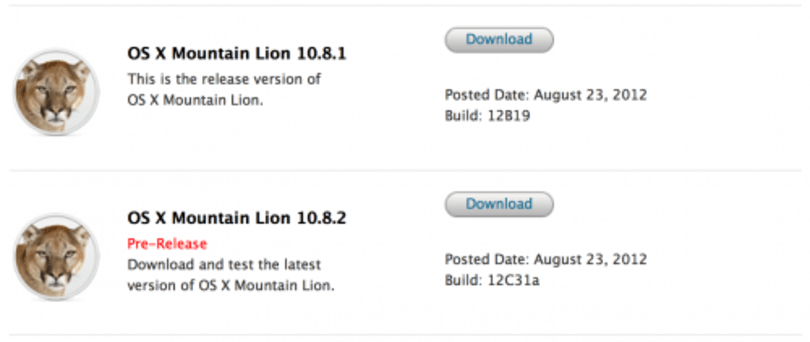Apple releases Mountain Lion 10.8.2 build to devs, focuses on Facebook, iMessage and more