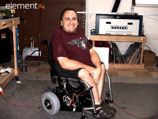 Ben Heck creates hands-free wheelchair attachment for expectant father