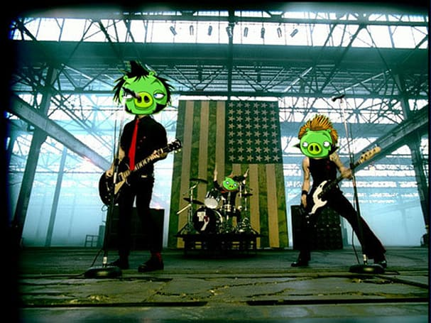 Green Day make cameo in Angry Birds Facebook offering as mascara-wearing egg thieves