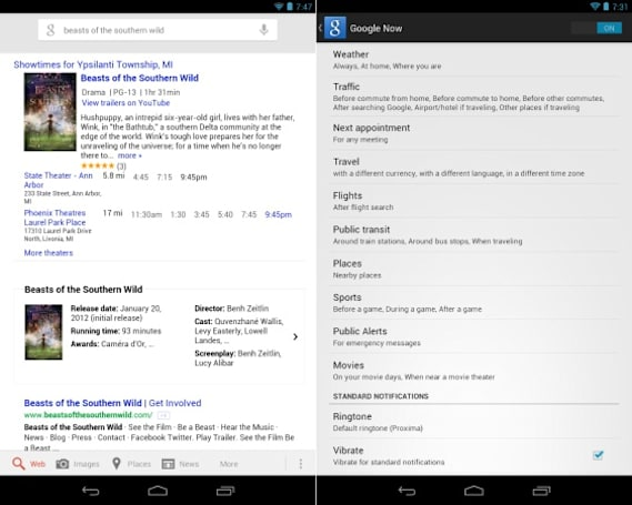 Google Now update brings public safety alerts, lets sports fans manually pick teams and adds movie listings