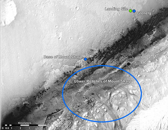 NASA maps out proposed travel plans for Curiosity, decides to head for the hills