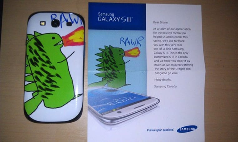 Samsung sends Canadian a truly unique Galaxy S III, guarantees a loyal customer