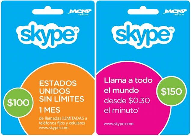 Skype now selling prepaid cards in Mexico, makes it easier to get unlimited calling plans